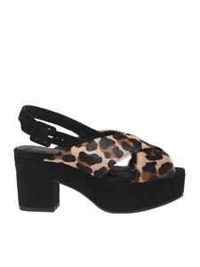 "Castaner - Black ""Yasir"" wedge sandals"
