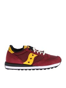 "Saucony - Burgundy ""Jazz Original"" sneakers"