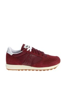 "Saucony - Burgundy ""Jazz Original Vintage"" sneakers"