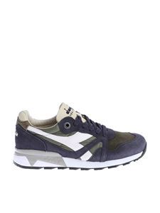 "Diadora Heritage - Blue and green ""N9000 H S SW"" sneakers"