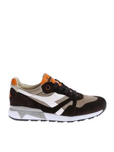 "Diadora Heritage - Brown and beige ""N9000 H S SW"" sneakers"