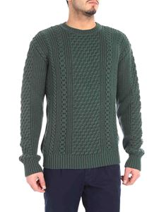 """Edwin - """"United"""" crew-neck green knitted pullover"""
