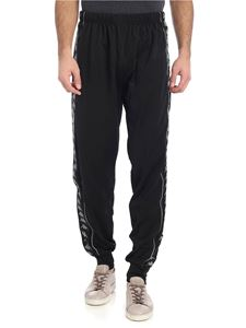 Kappa Kontroll - Black sweat pants with branded stripes