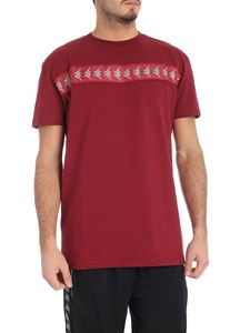 Kappa Kontroll - Burgundy t-shirt with branded band