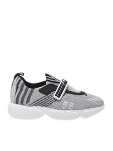 Prada - Silver sneakers with velcro