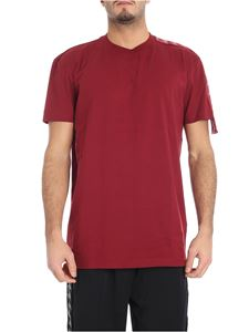 Kappa Kontroll - Burgundy t-shirt with branded stripes