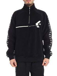 Kappa Kontroll - Black branded fleece sweatshirt