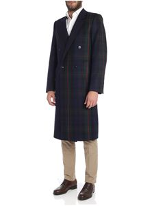 Paul Smith - Cappotto doppiopetto blu e verde