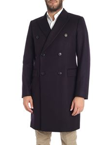 Paul Smith - Cappotto doppiopetto blu foderato