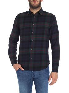 Paul Smith - Green and blue check pattern shirt
