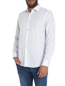 Paul Smith - Camicia slim fit bianca stampata