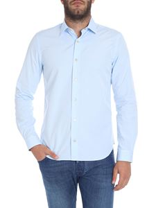 "Paul Smith - Blue ""super"" slim fit shirt"