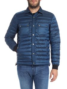 Paul Smith - Blue quilted down jacket