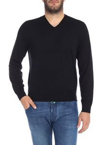 Paul Smith - Pullover nero in lana merino