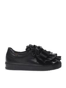 """Pokemaoke - Black """"Campanellino"""" sneakers with rouches"""