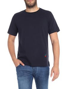 Paul Smith - T-shirt blu con ricamo logo
