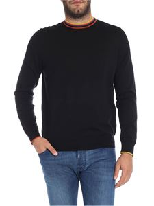 Paul Smith - Black sweater with contrasted detail