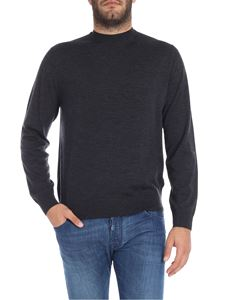 Paul Smith - Pullover grigio scuro in lana merino