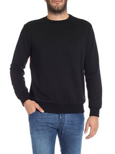 Paul Smith - Black sweatshirt with side bands