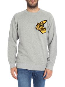 Vivienne Westwood Anglomania - Grey sweatshirt with logo patch