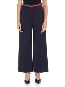 Paul Smith - Blue palazzo trousers with pressed pleats