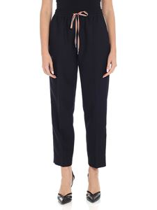 Paul Smith - Blue wool cropped trousers