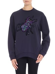 Paul Smith - Blue sweatshirt with sequins embellishment