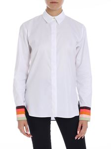 Paul Smith - White shirt with contrasted cuffs