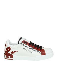 "Dolce & Gabbana - ""Portofino"" white and red sneaker"