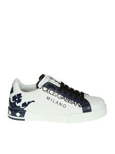 "Dolce & Gabbana - ""Portofino"" white and black sneaker"