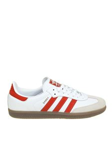 "Adidas Originals - ""Samba OG"" white and red sneakers"