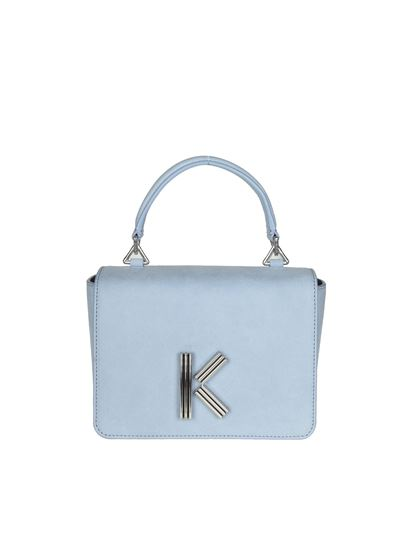Kenzo - Light blue shoulder bag with logo