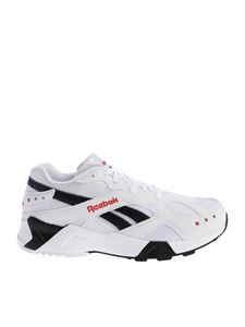 "Reebok - ""Aztrek"" white and black sneakers"