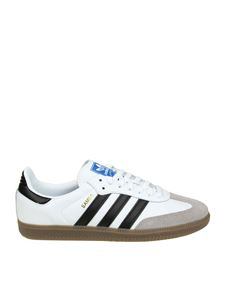 "Adidas Originals - ""Samba OG"" white and black sneakers"