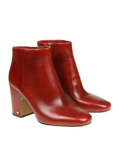 "Michael Kors - Red ""Elaine"" ankle boots"