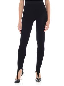 Jacquemus - Leggings nero a costine