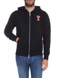 Ami Alexandre Mattiussi - Black sweatshirt with embroidered logo
