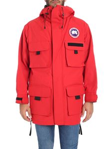 JUNYA WATANABE COMME DES GARCONS - Red field jacket with logo