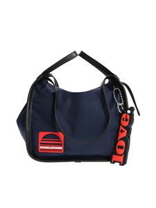 Marc Jacobs  - Blue shoulder bag with red logo