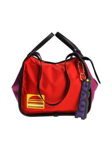 Marc Jacobs  - Red and purple shoulder bag with yellow logo