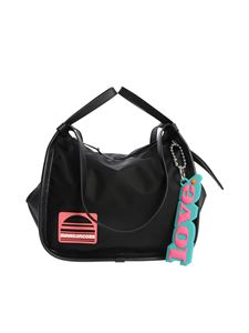Marc Jacobs  - Black shoulder bag with pink logo