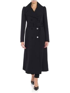 Stella McCartney - Black puffed sleeve coat