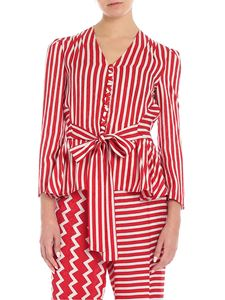 Stella McCartney - White and red silk blouse