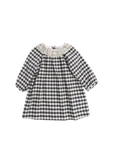 "Bonpoint - Cream and black check pattern ""Flavili"" dress"