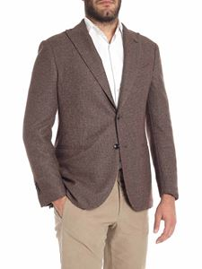 Lardini - Brown two buttons jacket