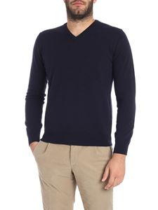 Kangra Cashmere - Blue V-neck sweater