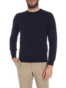 Kangra Cashmere - Blue crew-neck sweater