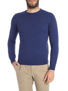 Kangra Cashmere - Melange blue crew-neck sweater
