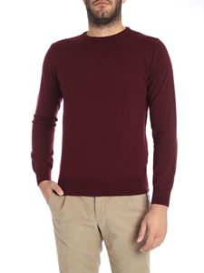 Kangra Cashmere - Burgundy crew-neck sweater