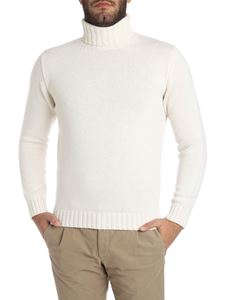Kangra Cashmere - Cream-color turtleneck sweater
